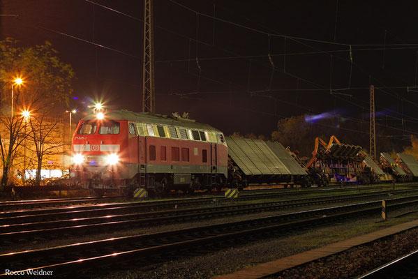 218 005 mit EK 55925 Dillingen Hochofen Hütte - Dillingen(Saar) 09.11.2015