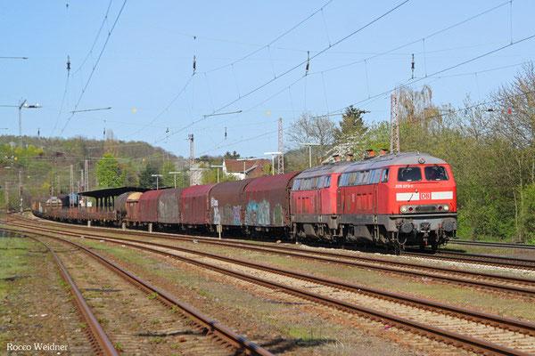 DT 225 073 + 218 002 mit EK 51918 Mannheim Rbf Gr.G - Saarbrücken Rbf Nord, Sulzbach(Saar) 20.04.2016