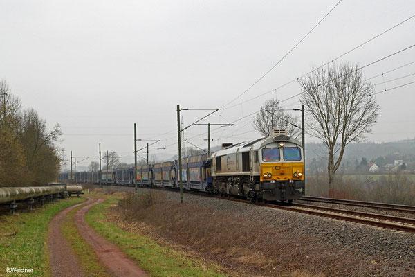 ECR 77 014 mit EK 55981 Fürstenhausen - Saarbrücken Rbf Nord, Gersweiler 23.01.15