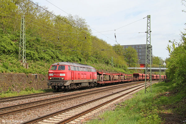 225 021 mit EK 55968 Saarbrücken Rbf West - Dillingen(Saar), Saarbrücken 29.04.2015