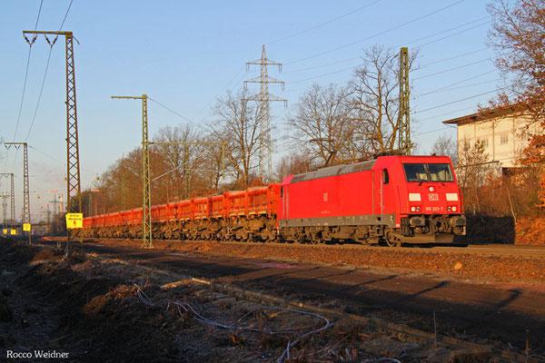 185 302 mit GB 62415 Einsiedlerhof - Radolfszell Gbf (Sdl. Schotter), Kaiserslautern 25.02.2016