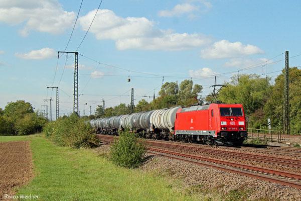 185 248 mit GC 61029 Ludwigshafen/Rh Gbf - ESSO Werksbahnhof, Mannheim-Friedrichsfeld Süd 21.09.2015
