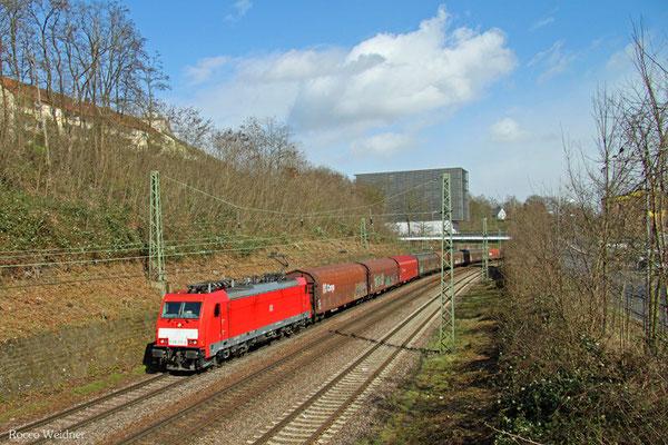 185 335 mit EZ 44210 Saarbrücken Rbf West - Blainville-Damelevières/F (EV), Saarbrücken 01.04.2015