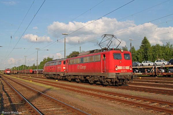 140 327 mit Schadlok 225 021, Einsiedlerhof 15.05.2015