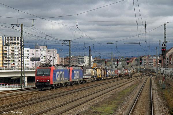 DT 482 000 + 482 ...  mit DGS 43074 Gallarate/I – Ludwigshafen BASF Ubf, Ludwigshafen 02.02.2016