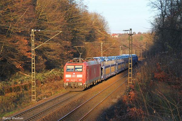 185 039 mit GA 49276 Einsiedlerhof - Forbach/F (Hendaye), Saarbrücken 03.12.2015