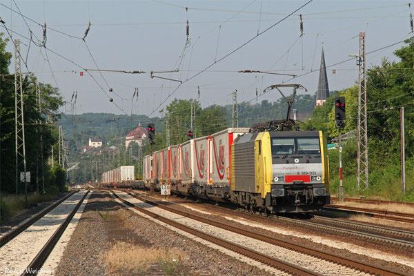 MRCE 189 931 (i.E.für TXL) mit DGS 43513 Bettembourg/L - München-Laim Rbf , Dudweiler 03.07.2015
