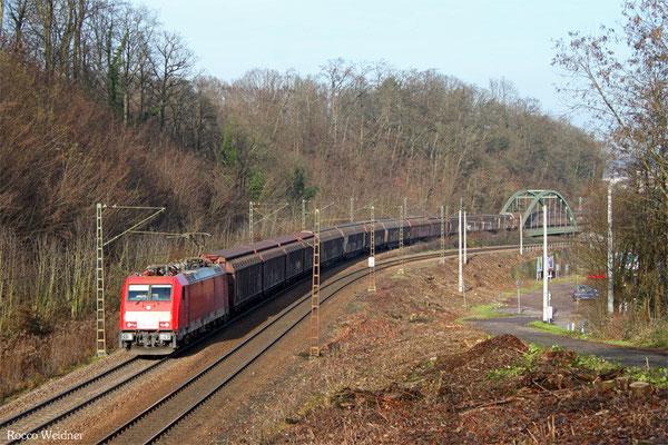 186 328 mit EZ 44220 Saarbrücken Rbf Nord - Vaires-Trocy/F (Railnet France), Saarbrücken 19.12.2015