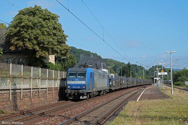 145 100 (i.E für Crossrail) mit Leerzug von Antwerpen Zuid - Dillingen Ford (Sdl.), Serrig 31.07.2015