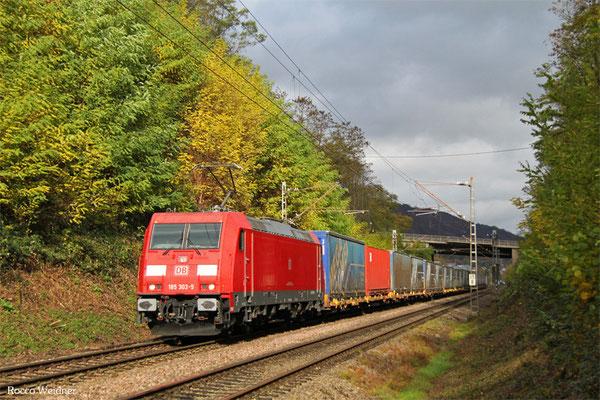 185 303 mit GA 52980 Köln Eifeltor Bez III - Saarbrücken Rbf Nord, Abzweig Karthaus 06.11.2015