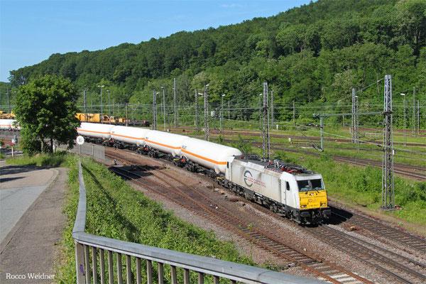 ECR 186 165 mit GC 49248 Marl-Hüls AG - Creutzwald/F, Saarbrücken Rbf 04.06.2015
