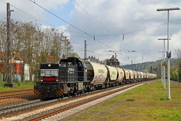 275 015 mit DGS 95446 Mannheim-Indusdriehafen - Forbach/F (Sdl.), Dudweiler 28.04.2016