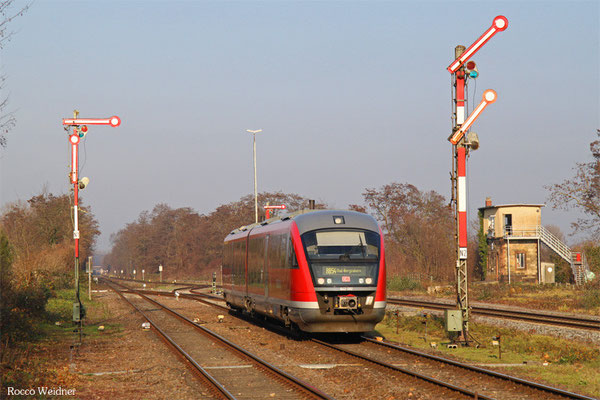 642 092 als RB 28124 Winden(Pfalz) - Bad Bergzabern (Nachschuss), 14.12.2015