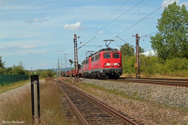 DT 140 858 + 140 821 mit EK 55923 Dillingen Hochofen Hütte - Saarbrücken Rbf West, Ensdorf 05.08.2015