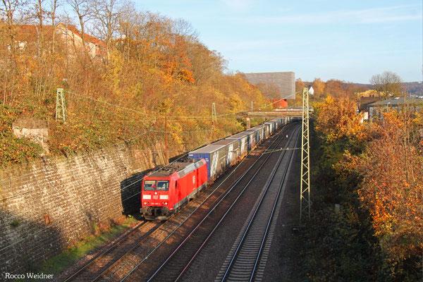 185 049 mit GA 52981 Saarbrücken Rbf Nord - Köln Eifeltor Bez III, Saarbrücken 12.11.2015