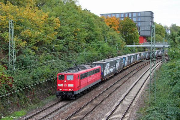 151 149 mit GA 52981 Saarbrücken Rbf Nord - Köln-Eifeltor Bez III, Saarbrücken 08.10.2015