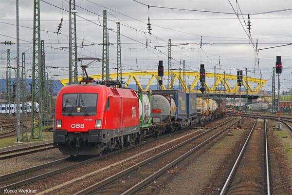 1116 056 mit KT 42138 Verona Quadrante Europa/I -  Ludwigshafen(Rhein) BASF Ubf, Mannheim Hbf 02.02.2016