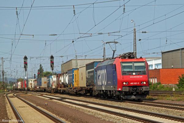 SBB 482 021 mit DGS 40247 Antwerpen-DS Oord/NL - Gallarate/I, Mannheim-Friedrichsfeld 11.08.2015