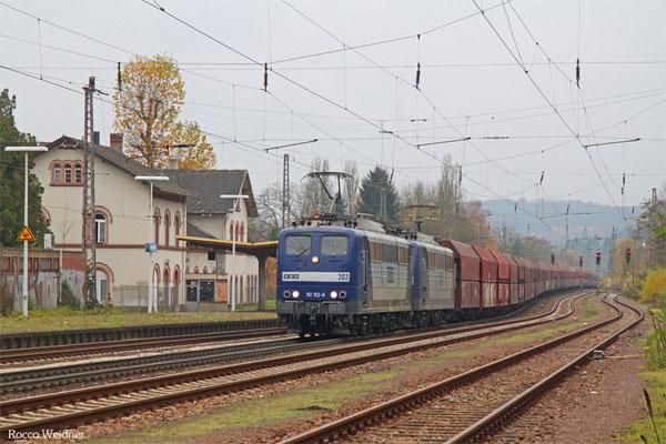 DT 151 152 + 151 084 mit GM 60499 Oberhausen West Orm - Neunkirchen (Saar) Hbf, Dudweiler 13.11.2015