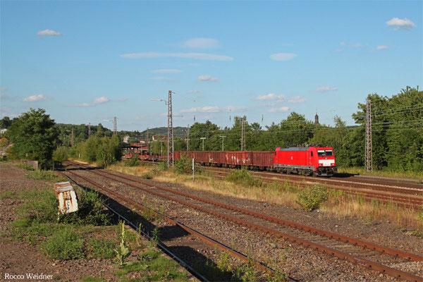 186 328 mit GM 60546 Neunkirchen(Saar) Hbf - Völklingen, Sulzbach 21.07.2015