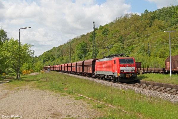 189 037 mit GM 48724 Dillingen Hochofen Hütte - Maasvlakte Oost/NL (Umleiter wegen Bauarbeiten Moselstrecke), Luisenthal (Saar) 09.05.2015)