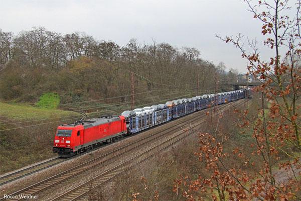 185 298 mit GA 62401 Saarbrücken Rbf West - Dillingen Ford (Sdl. PKW), Saarlouis-Roden 17.02.2016
