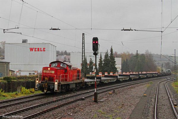 294 740 mit M 62512 Baumholder - Neunkirchen(Saar) Hbf (Sdl. Leerwagen Militär), Ottweiler 17.11.2015