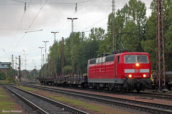 181 215 mit EK 55977 Völklingen Walzwerk - Neunkirchen(Saar) Hbf, 23.09.2015