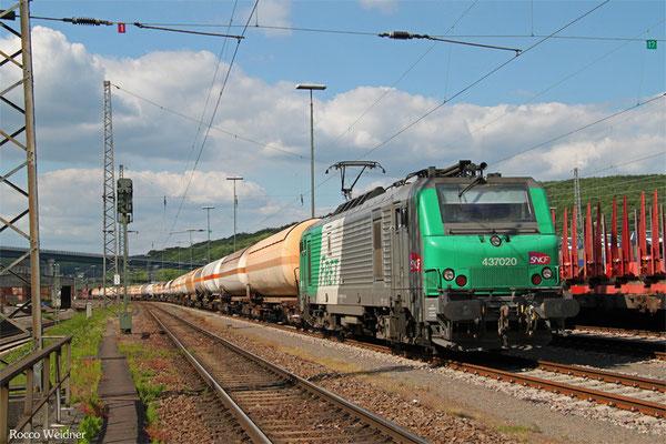 SNCF FRET BB37020 mit GC 98812 Saarbrücken Rbf Nord - Forbach/F (Sdl. Kohlenwasserstoff), Saarbrücken Rbf West 21.05.2015