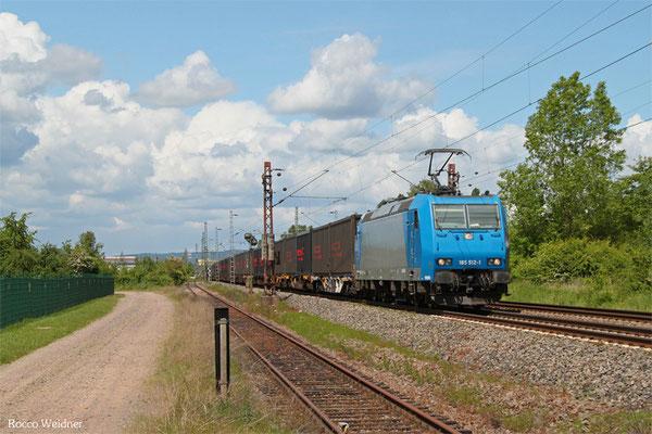 185 512 (i.E. für CFL Cargo), Ensdorf 20.05.2015