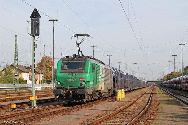 SNCF FRET BB37009 mit GA 49276 Einsiedlerhof - Hendaye/F, 12.10.2015