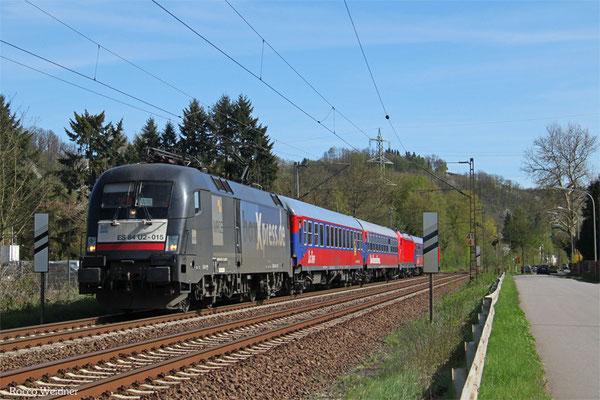 182 515 mit Mess ST 92625 Merzig - Mettlach (Bombardier Versuchsfahrten),Merzig 15.04.2015