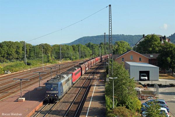 RBH DT 151 024 + 151 143 mit GM 60499 Oberhausen West Orm - Neunkirchen(Saar) Hbf, Merzig 31.07.2015