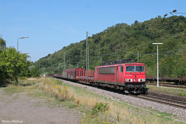 155 016 mit EK 559.. Völklingen Walzwerk - Saarbrücken Rbf Nord, Luisenthal(Saar) 21.08.2015