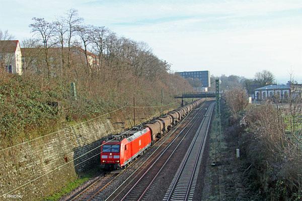 185 033 mit GA 44420 Großenkneten - Forbach/F ( St.-Claires-Les-Roches) (Sdl.Schwefel), Saarbrücken 06.01.15