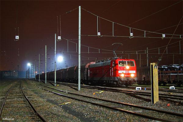 181 211 mit EZ 44424 Einsiedlerhof - Forbach/F (Blanc Mesnil) (Sdl.EW-Zug), Forbach 19.01.15