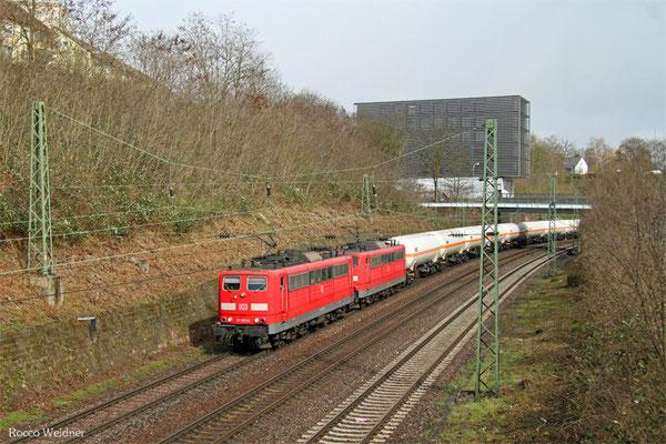 DT 151 053 + 151 002 mit GC 49247 (Creutzwald/F) Saarbrücken Rbf Nord - Hüls AG, Saarbrücken 01.04.2015