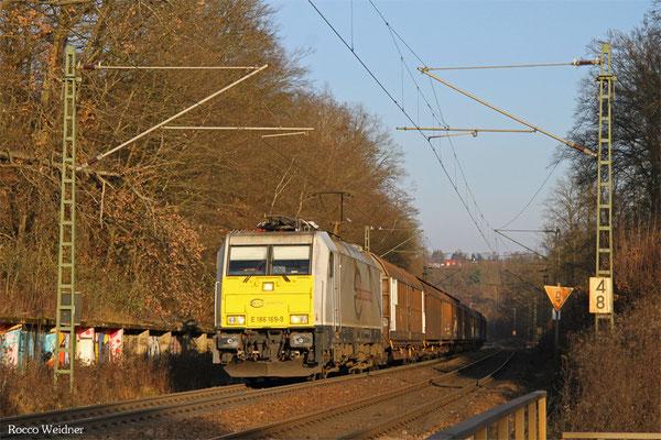 186 169 mit EZ 44220 Mannheim Rbf Gr.G - Vaires-Torcy/F, Saarbrücken 30.12.2015