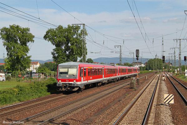 628 443 + 628 ... + 628 ... als RB 28334 Fürth(Odenwald) - Mannheim Hbf