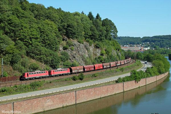 DT 140 805 + 140 837 mit GM 48776 Dillingen Zentalkokerei - Oberhausen West Orm, Mettlach 02.08.2015