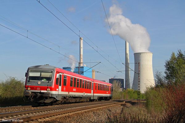 628 487 als RE 12289 Dillingen(Saar) - Saarbrücken Hbf, Ensdorf (Saar) 21.04.2015