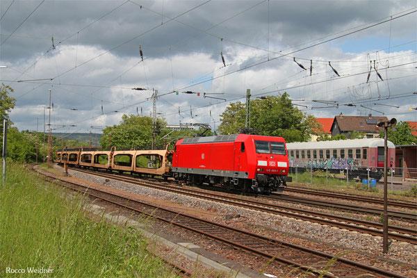 145 069 mit GA 47735 (Vlissingen Sloeh) Venlo/NL - Dillingen DB/Ford, Dillingen 19.05.2015