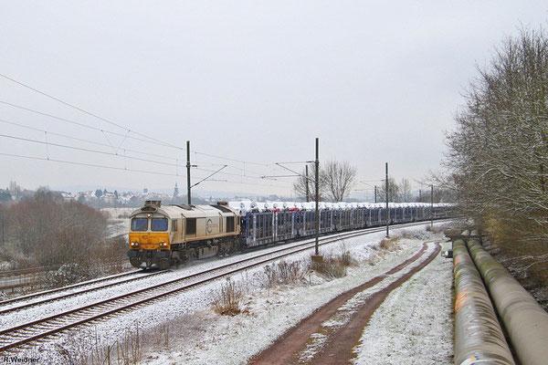 ECR 77 037 mit EK 55980 Saarbrücken Rbf West - Fürstenhausen, Gersweiler 20.01.15
