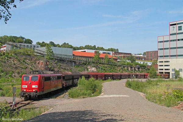 RBH 151 004 mit GM 62474 Neunkirchen(Saar) Hbf - Göttelborn (KW Weiher) (Sdl. Kohle in WP-Fal), Göttelborn 11.07.2015