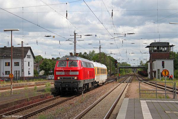 218 401 mit ST 93314 Dillingen DB/Ford - Dinllingen(Saar) (Sdl.), Dillingen 19.05.2015