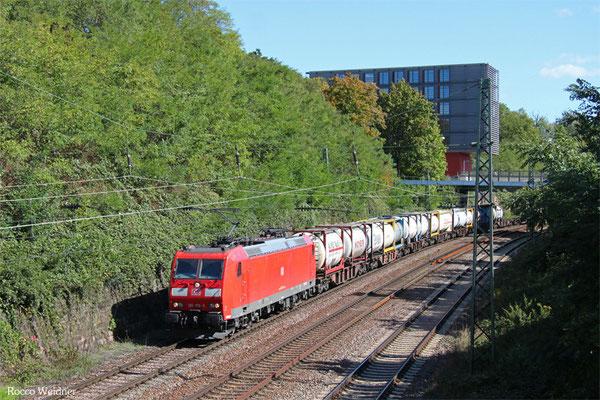 185 176 mit KT 50700 (Bayonne) Forbach/F - Köln-Eifeltor Bez III (Sdl. KV , ex 41211), Saarbrücken 28.09.2015