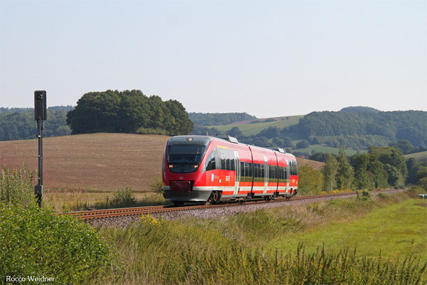 "643 031 ""Otterbach"" als RB 12869 Kusel - Landstuhl, Rehweiler 11.09.2015"
