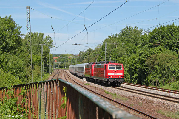 DT 181 204 + 181 209 mit IC 2055 Saarbrücken Hbf - Heidelberg Hbf, Saarbrücken 18.05.2015