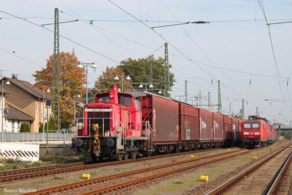 363 139 kommt aus dem Anschluss Opelwerk mit GA 52601 Einsiedlerhof -  Rüsselsheim Opelwerk, 12.10.2015