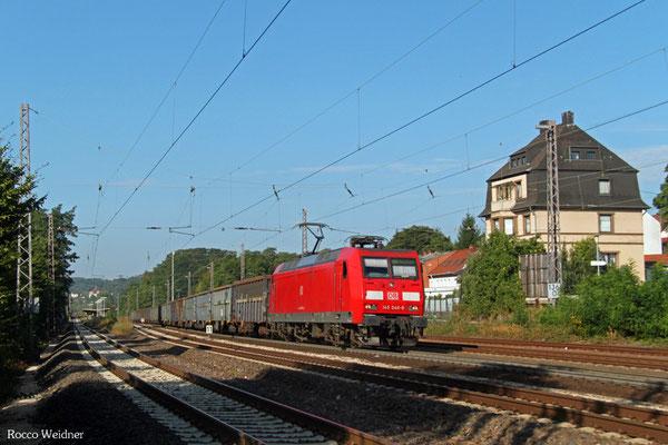 145 046 mit EZ 52660 Ehrang Nord - Homburg(Saar) Hbf, Dudweiler 05.08.2015